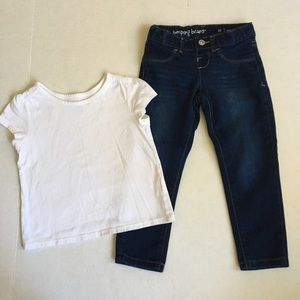 Classic jean and white tee bundle 3t